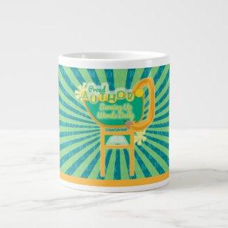 Proud Author Retro Diner Sign 20 Oz Large Ceramic Coffee Mug