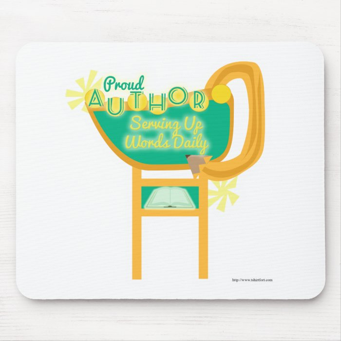Proud Author Retro Style Diner Sign Mouse Pad