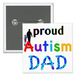 Proud Autism Dad 2 Inch Square Button