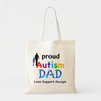 Proud Autism Dad Budget Tote Bag