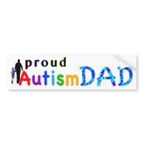 Proud Autism Dad Bumper Sticker