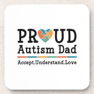 Proud Autism Dad Drink Coaster