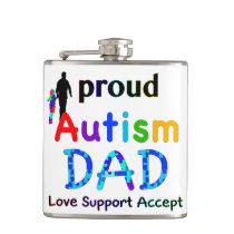 Proud Autism Dad Flask