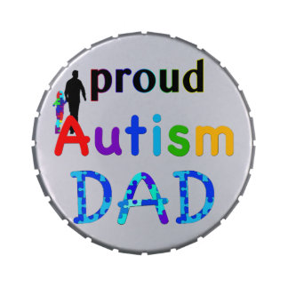 Proud Autism Dad Jelly Belly Candy Tin