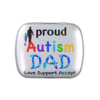 Proud Autism Dad Jelly Belly Tins
