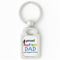 Proud Autism Dad Keychain