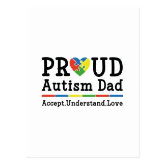 Proud Autism Dad Postcard