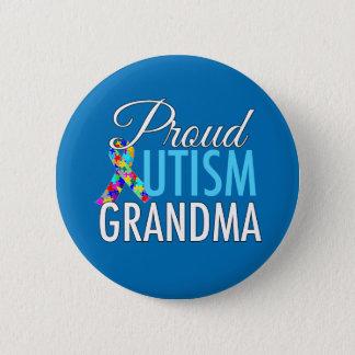 Proud Autism Grandma Pinback Button