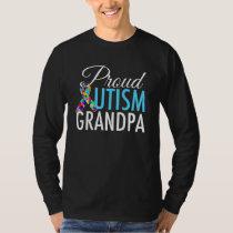 Proud Autism Grandpa T-Shirt