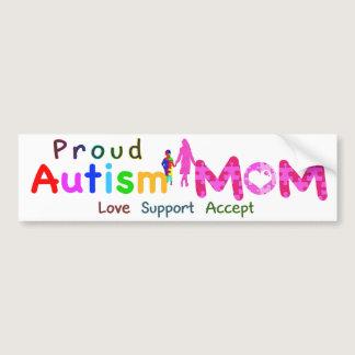 Proud Autism Mom Bumper Sticker