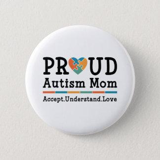 Proud Autism Mom Button