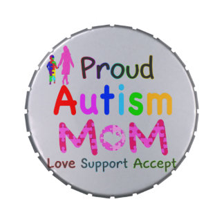 Proud Autism Mom Candy Tin