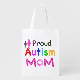 Proud Autism Mom Reusable Grocery Bag