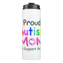 Proud Autism Mom Thermal Tumbler