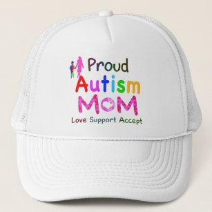 2041af3f6b3 Proud Autism Mom Baseball   Trucker Hats