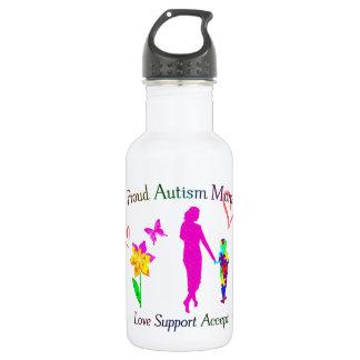 Proud Autism Mom Water Bottle