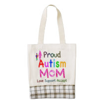 Proud Autism Mom Zazzle HEART Tote Bag