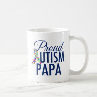Proud Autism Papa Coffee Mug