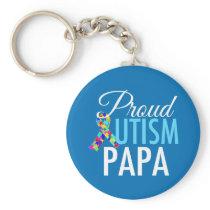 Proud Autism Papa Keychain