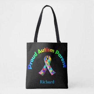 Proud Autism Parent Personalized Tote Bag