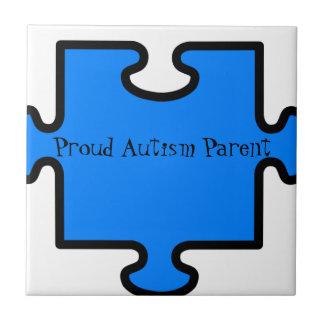 Proud Autism Parent Small Square Tile