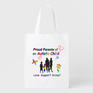 Proud Autism Parents Grocery Bag