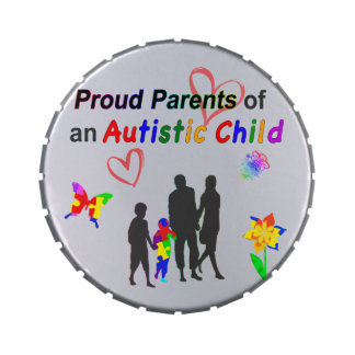 Proud Autism Parents Jelly Belly Candy Tin