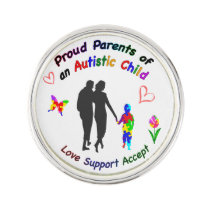 Proud Autism Parents Lapel Pin