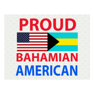 Proud Bahamian American Postcard