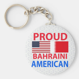 Proud Bahraini American Basic Round Button Keychain