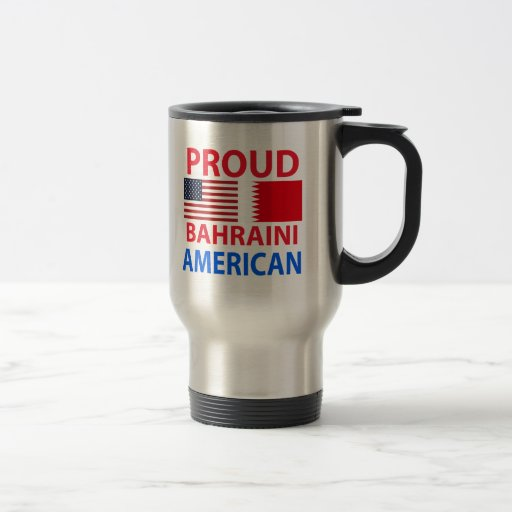 Proud Bahraini American Coffee Mugs