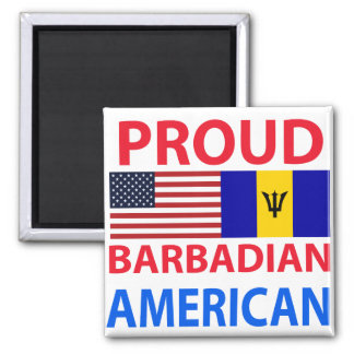 Proud Barbadian American Refrigerator Magnet