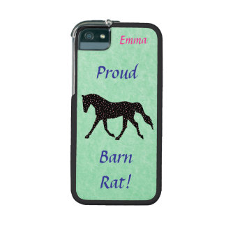 Proud Barn Rat Equestrian iPhone 5/5S Case
