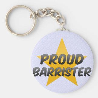 Proud Barrister Basic Round Button Keychain