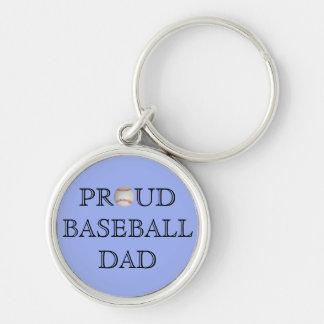 Proud Baseball Dad Keychain