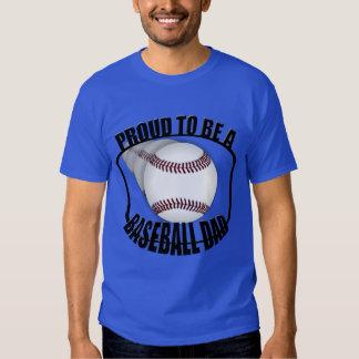 Proud Baseball Dad Men's Blue Basic T-Shirt