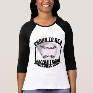 Proud Baseball Mom Black Raglan T-shirt