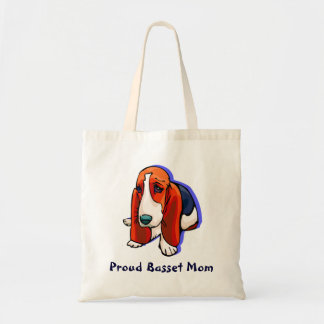 Proud Basset Mom Tote Bag