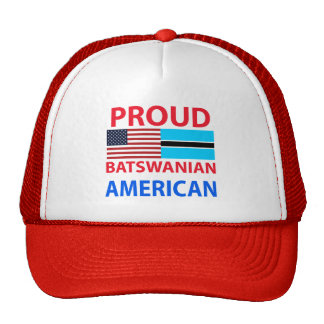 Proud Batswanian American Trucker Hat
