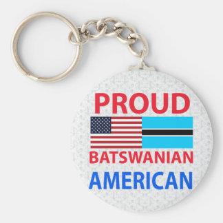 Proud Batswanian American Keychains