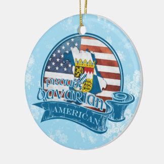 Proud Bavarian American Christmas Ornament