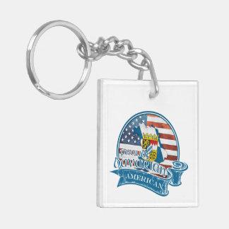 Proud Bavarian American Keychain