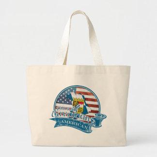 Proud Bavarian American Large Tote Bag
