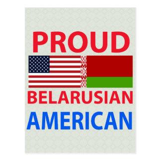 Proud Belarusian American Postcard