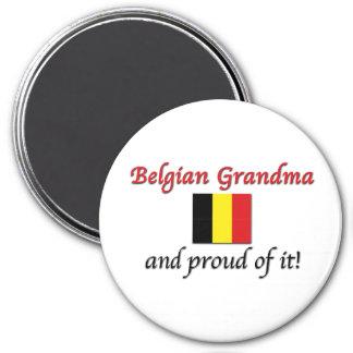 Proud Belgian Grandma 3 Inch Round Magnet