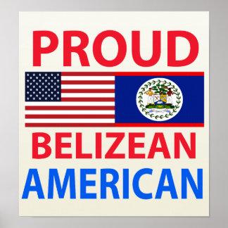 Proud Belizean American Print