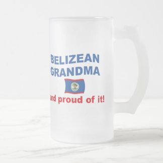 Proud Belizean Grandma Frosted Glass Beer Mug