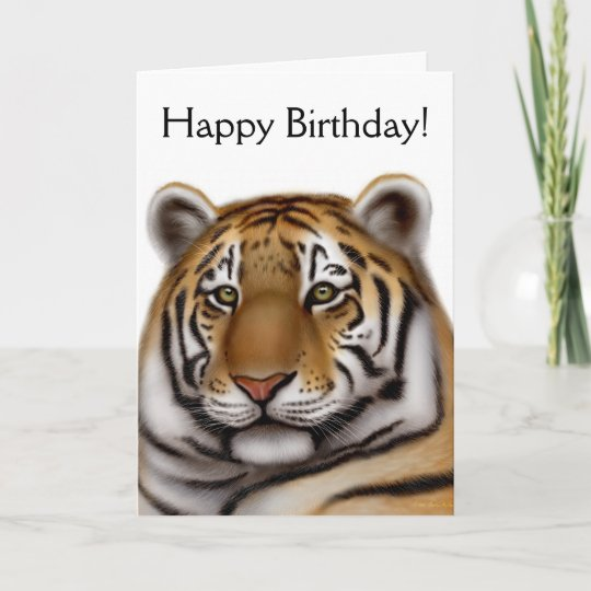 Proud Bengal Tiger Birthday Card Zazzle