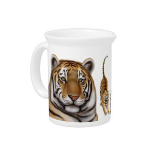 Proud Bengal Tiger Pitcher