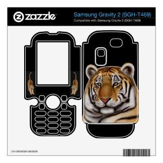 Proud Bengal Tiger Samsung Gravity 2 Black Skin Samsung Gravity 2 Decals